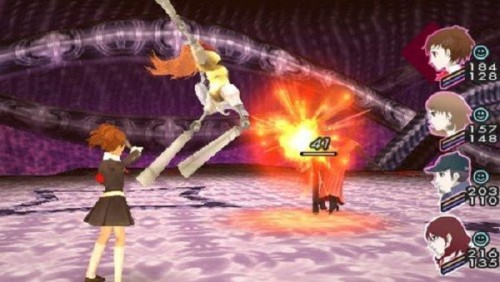 Screenshot of P3Ps combat